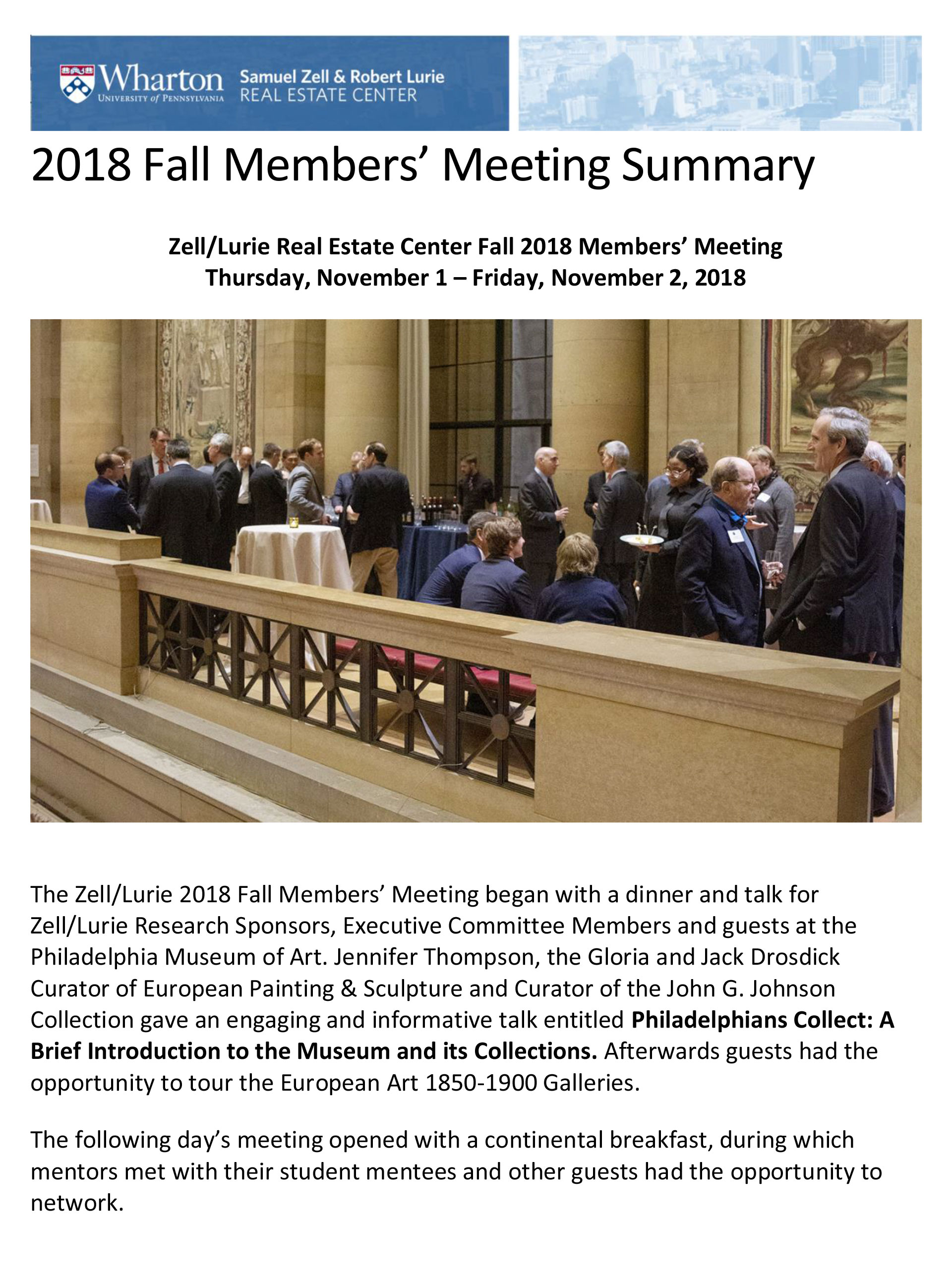 Zell-Lurie – 2018 Fall Meeting