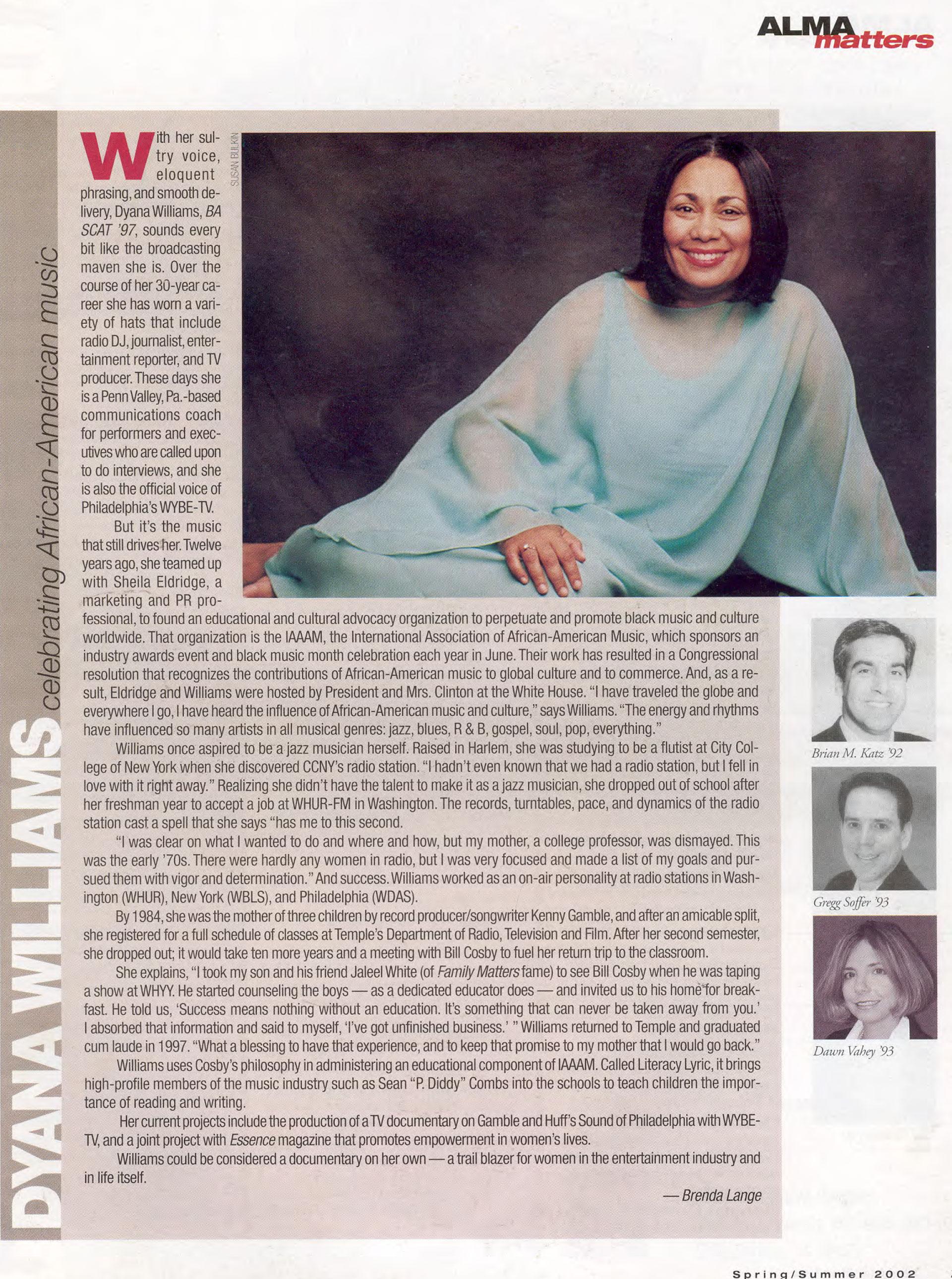 Dyana Wiliams profile